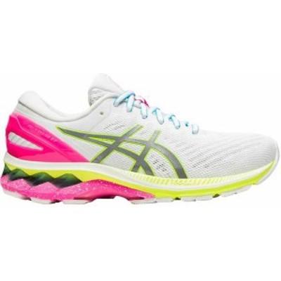 アシックス レディース スニーカー シューズ ASICS Women's GEL-Kayano 27 Lite Show Running Shoes WHITE/PINK/YELLOW