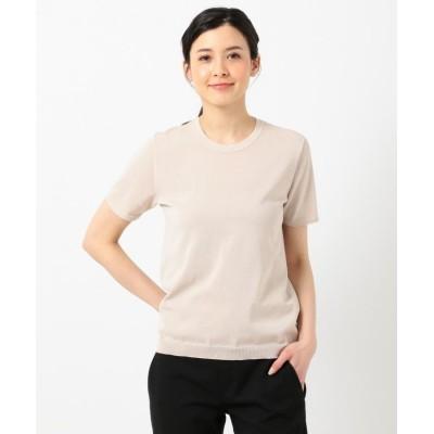 (ICB(LARGE SIZE)/アイシービー エルサイズ)HiTwist Cotton 半袖ニット/レディース ベージュ系