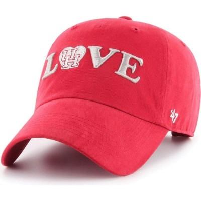 フォーティセブン 47 レディース キャップ 帽子 Houston Cougars Red Love Script Clean Up Adjustable Hat