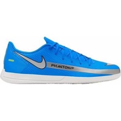 ナイキ メンズ スニーカー シューズ Nike Phantom GT Club Indoor Soccer Shoes Blue/Silver