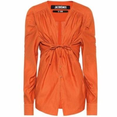 ジャックムス Jacquemus レディース ブラウス・シャツ トップス Zohra linen and cotton shirt orange