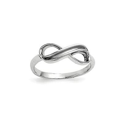 【新品】Solid 925 Sterling Silver Overlap Infinity Love Knot Symbol Ring Band Size