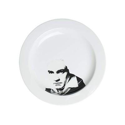 サンアート おもしろ食器 「 偉人フェイスディッシュ 」 ベートーベン 中皿 直径23.5cm ホワイト SAN2208-1