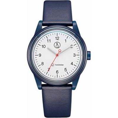 【送料無料】[シチズン Q&Q] 腕時計 アナログ スマイルソーラー リンクコーデ 防水 革ベルト RP26-001 ブルー