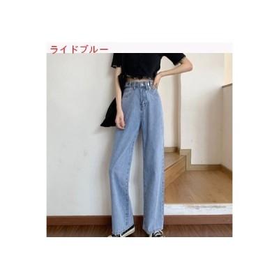 【送料無料】ハイウエスト 女性のジーンズ 夏 薄いスタイル 年 着やせ 何でも似合う パンツ ストレ   364331_A63236-6580860