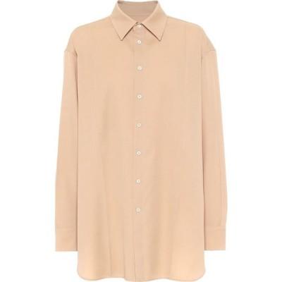 ジル サンダー Jil Sander レディース ブラウス・シャツ トップス wool-gabardine shirt Dark Beige