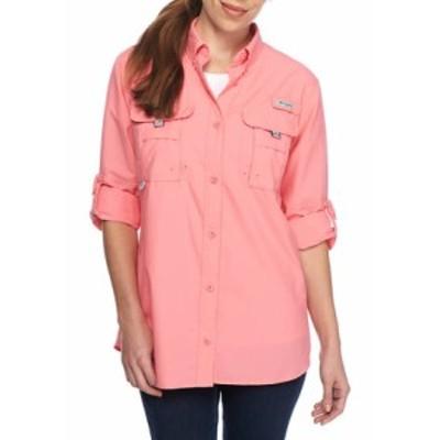 コロンビア レディース シャツ トップス PFG Long Sleeve Button Down Bahama Shirt Lollipop