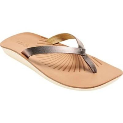 オルカイ レディース サンダル シューズ Iwi Thong Sandal Silver/Golden Sand Full Grain Leather