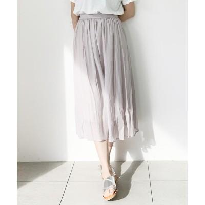 【ミューズ リファインド クローズ】 シルクローンスカート レディース ライト グレー M MEW'S REFINED CLOTHES
