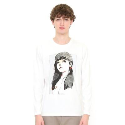 tシャツ Tシャツ コラボレーションロンT/ブルー(リトルサンダー)(ホワイト)