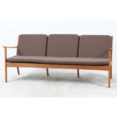 Ole Wanscher(オーレ・ヴァンシャー) PJ112 トリプルソファ マホガニー材 デンマーク製 北欧家具ビンテージ