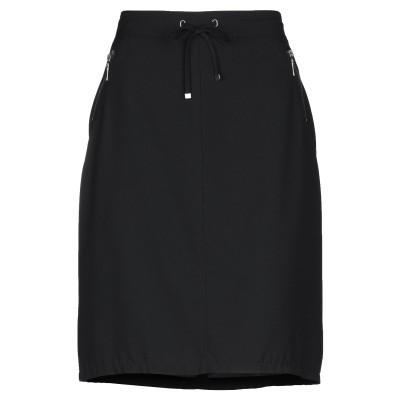 BARBARA LEBEK ひざ丈スカート ブラック 38 ポリエステル 93% / ポリウレタン 7% ひざ丈スカート
