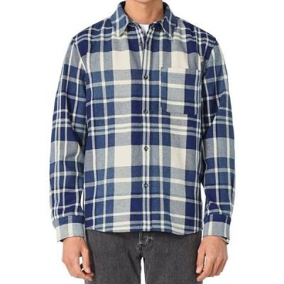アーペーセー メンズ シャツ トップス Surchemise Trek Plaid Straight Fit Button Down Shirt