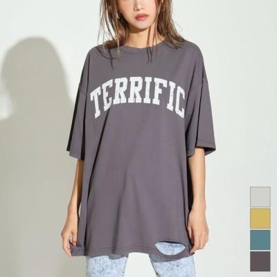 ANAP カレッジロゴダメージビッグTシャツ / ANAP / 793-8230 ブラック フリー レディース