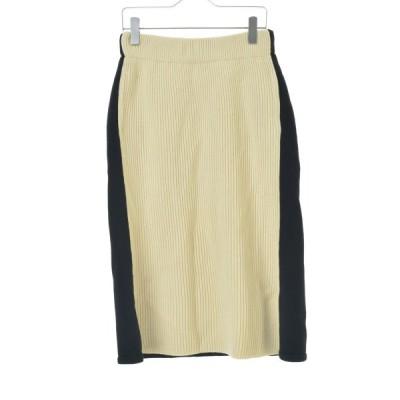 【期間限定値下げ】HYKE / ハイク 切替ニットロング スカート