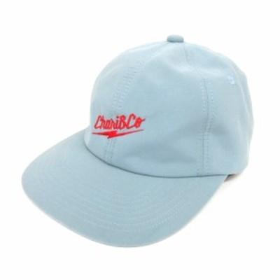【中古】チャリアンドコー CHARI&CO THUNDER LOGO 6 PANEL CAP 刺繍 キャップ 帽子 ライトブルー 210118O メンズ