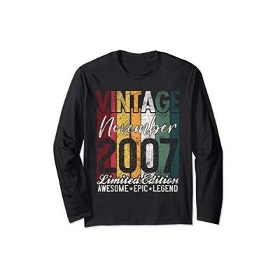 November 2007 13th Birthday Gift 13 Years Old Vintage Retro 長袖Tシャツ