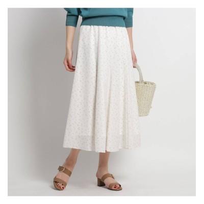 【スーナウーナ/SunaUna】 【洗える】プチプリントフレアスカート