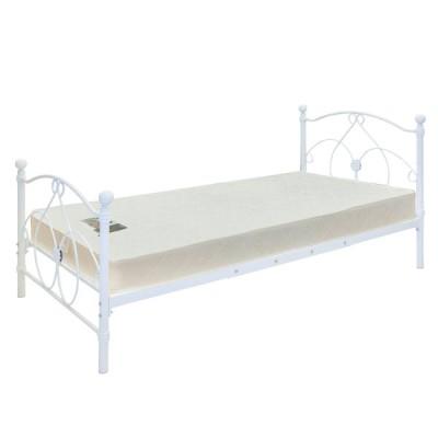ベッド パイプベッド SK47-12 エレガンスローベッドホワイト 白 S 送料無料 スイデコ スイートデコレーション