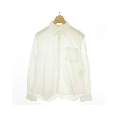 【中古】トリココムデギャルソン tricot COMME des GARCONS AD2005 レース切替 シャツ ブラウス コットン 長袖 M ホワイト レディース 【ベクトル 古着】
