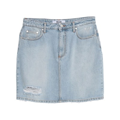 エムエスジーエム MSGM デニムスカート ブルー 42 コットン 100% デニムスカート