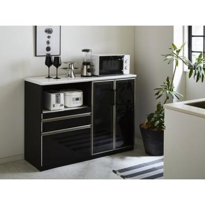 キッチンカウンター テーブル 間仕切り 120 完成品 キッチンカウンター下収納 キッチンカウンター上収納 収納 テーブル付き キッチンカウンター下 メラミン