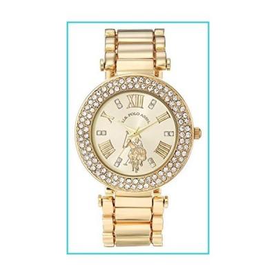 U.S. Polo Assn. レディースクォーツ腕時計、合金ストラップ、ゴールド、16(モデル:USC40212AZ)【並行輸入