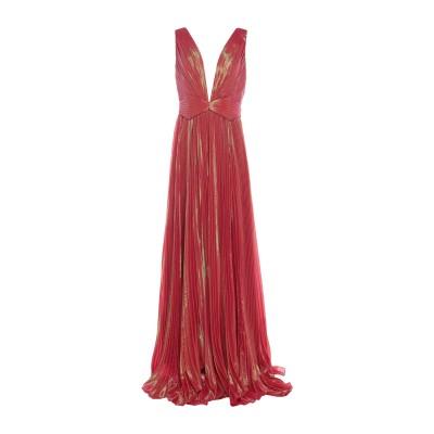 IRIS SERBAN ロングワンピース&ドレス レッド 38 ポリエステル 95% / ポリウレタン 5% / シルク ロングワンピース&ドレス