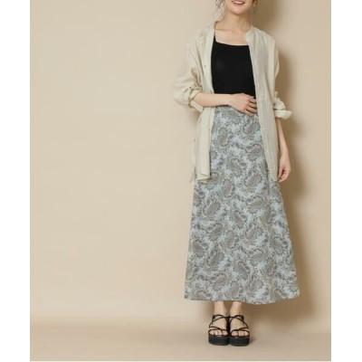 N.Natural Beauty Basic/エヌ ナチュラルビューティーベーシック ペイズリーシリーズ スカート《S Size Line》 グリーン1 S