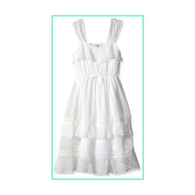 Speechless Big Girls Tiered Full-Length Maxi Dress, Ivory, 12並行輸入品