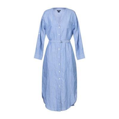 ウールリッチ WOOLRICH 7分丈ワンピース・ドレス スカイブルー S コットン 67% / 麻 33% 7分丈ワンピース・ドレス