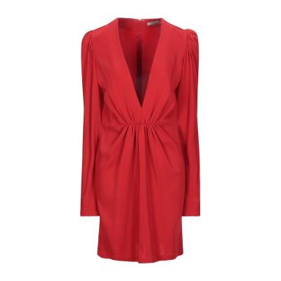 SILVIA TCHERASSI ミニワンピース&ドレス レッド XS レーヨン 96% / ポリウレタン 4% ミニワンピース&ドレス