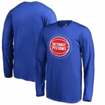Fanatics Branded ファナティクス ブランド スポーツ用品  Fanatics Branded Detroit Pistons Youth Blue Primary Logo Long Sleeve T-Sh