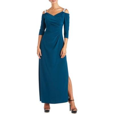 アールアンドエムリチャーズ レディース ワンピース トップス Women's Rhinestone 3/4 Sleeve Long Dress