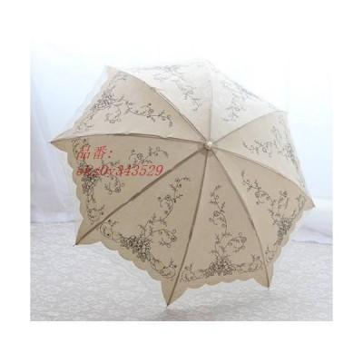 日傘 傘 折りたたみ おしゃれ スパンコール 手動 紫外線カット きれいめ 2つ折り 刺繍 UVカット 軽量 女性用 上品 コンパクト レディース レース 花柄 UVケア