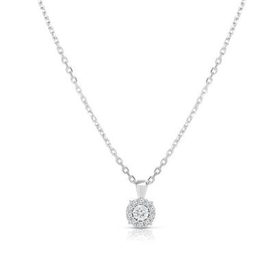 """トゥルーミラクル ネックレス・チョーカー・ペンダントトップ アクセサリー レディース Diamond Pendant (1/4 ct. t.w.) 18"""" Necklace in 14K White Gold White"""