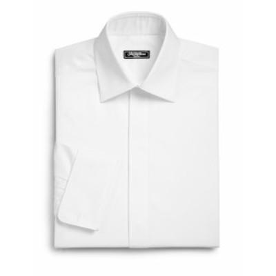 サックスフィフスアベニュー メンズ ドレスシャツ ワイシャツ Classic-Fit Tuxedo Shirt