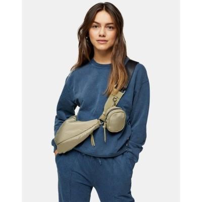 トップショップ レディース シャツ トップス Topshop Petite acid wash sweatshirt in blue Bl1 - blue 1