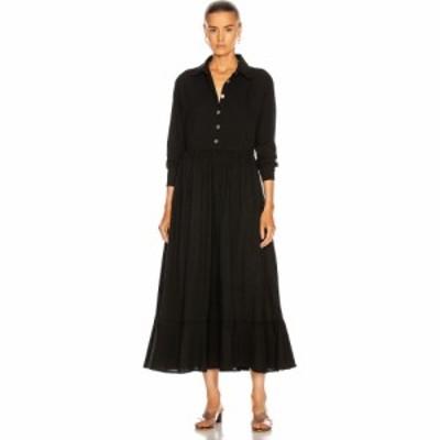 ナタリー マーティン Natalie Martin レディース ワンピース ワンピース・ドレス heath dress Flat Cotton Black