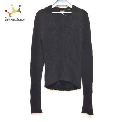 ディーアンドジー D&G 長袖セーター サイズXS XS レディース 訳あり 黒 Vネック 新着 20210603