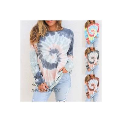 パーカー レディース Tシャツ 長袖 丸首 プルオーバー ゆったり 大きいサイズ プリント ファッション 通学 おしゃれ カジュアル 秋新作 着痩せ