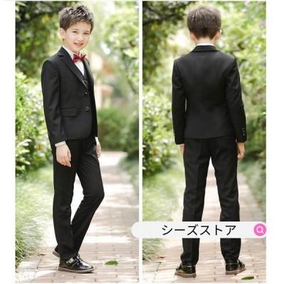 子供服 5点セット フォーマル スーツ 男の子 長袖 スーツ 上下 セットアップ 人気 可愛い ジュニア服 演奏会 発表会 披露宴 結婚式