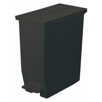 リス ごみ箱 ダストボックス 35L ペダル式 キャスターつき SOLOW ペダルオープンツイン ブラック おしゃれ 観音開き 代引不可