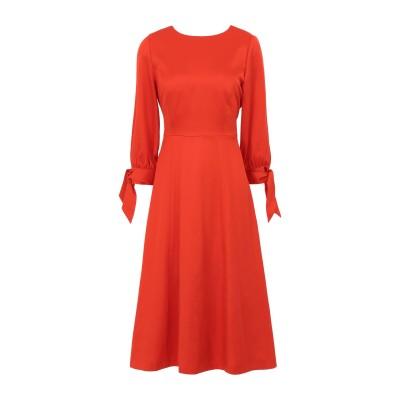 IVY & OAK 7分丈ワンピース・ドレス レッド 38 テンセル 100% 7分丈ワンピース・ドレス