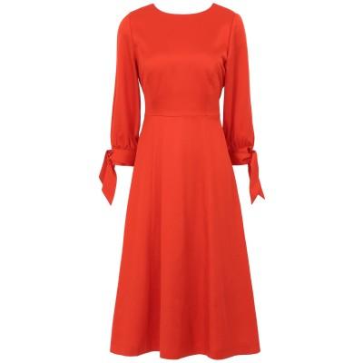 IVY & OAK 7分丈ワンピース・ドレス レッド 34 テンセル 100% 7分丈ワンピース・ドレス
