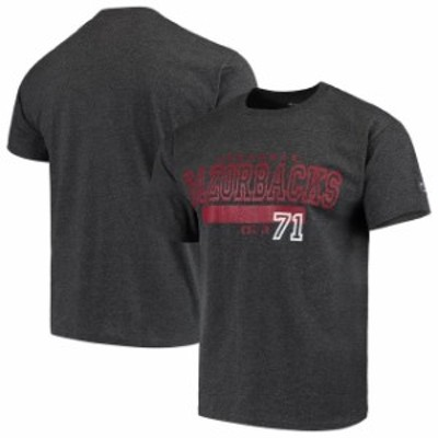 Champion チャンピオン スポーツ用品  Champion Arkansas Razorbacks Heathered Gray Bar 1871 T-Shirt