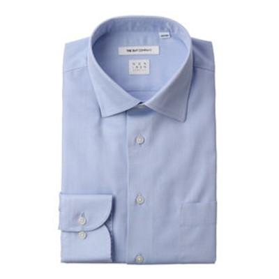 【NON IRON STRETCH】ワイドカラードレスシャツ 織柄 〔EC・FIT〕