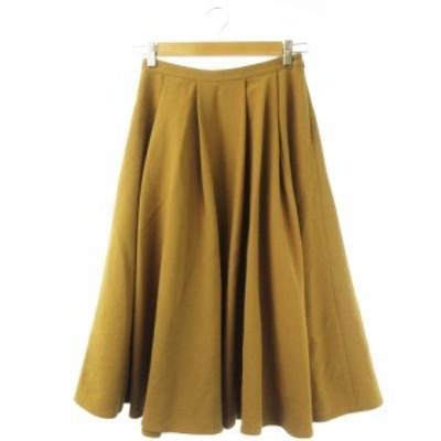 【中古】ボナジョルナータ BUONA GIORNATA スカート サーキュラー フレア ロング ジッパー 7 茶 ブラウン