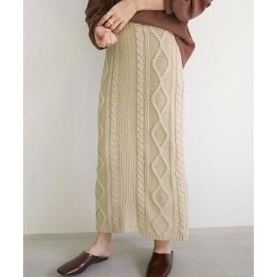 スカート ミックスゲージニットスカート