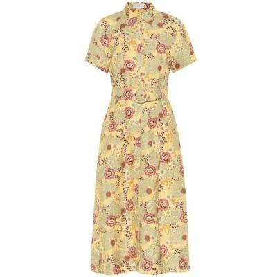 レベッカ ヴァランス Rebecca Vallance レディース ワンピース ミドル丈 ワンピース・ドレス Sahara floral linen-blend midi dress Floral Print